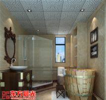 整套别墅简约中式装修设计图中式卫生间装修图片