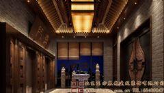 唯美优雅的中式会所装修设计效果图