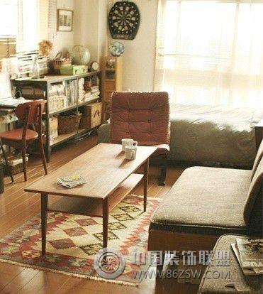 单身公寓设计图-书房装修效果图-八六装饰网装修效果