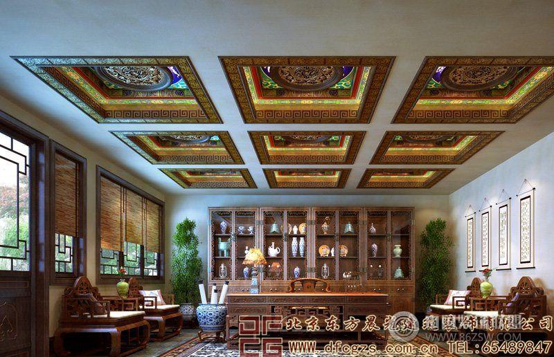 本案就是属于一套典型的会所中式装修案例,在进行会所设计的时候,设计师结合了中式风格的底蕴,刻画出一番奢华,大气的格调。内部装饰上,更是舍弃繁琐和纷杂的装饰元素,以清雅淡然的色彩和自然融入的手法,去追求会所装修中天人合一的优雅美感和古典风范。 会所前院茶室茗香四溢,散发出点点浪漫和温馨。 前院中堂设计,利用喜庆的中国红,加上木质坐塌的完美陈设,更彰显出私人会所的高贵气质。 会所书房高雅奢华的雕饰方式,造就了宁静庄重的大气之美。 会所装修的地下室布置,空间宽阔,色彩淡然,利用古典书法为装饰,刻画出古朴儒雅的格