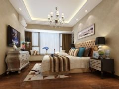 中锐姑苏尚城90平方3居室现代简约效果图现代卧室装修图片