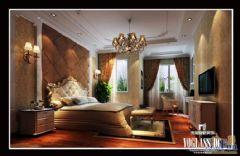 成都尚层装饰别墅装修欧美风格案欣赏(四)美式卧室装修图片