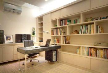 134平美式清新雅居美式书房装修图片