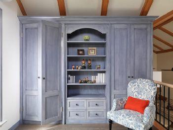 83平简欧复式温馨家欧式书房装修图片