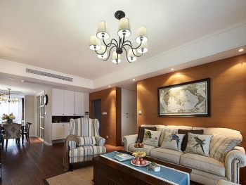 134平简约美式装修案例简约客厅装修图片