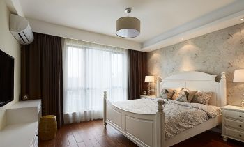 134平简约美式装修案例简约卧室装修图片