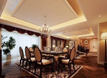 330平欧式奢华豪宅欧式餐厅装修图片