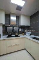 永新大成郡90平小清新完工图【枫雅装饰】现代简约厨房装修图片