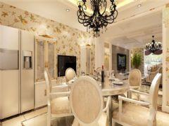 成都尚层装饰别墅装修设计师欧美风格案例推荐(五)欧式餐厅装修图片