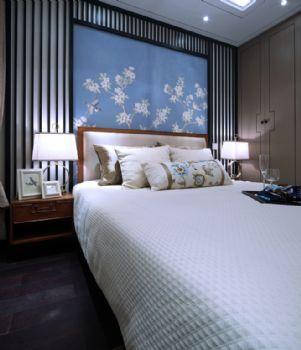 124平新中式品味家中式卧室装修图片