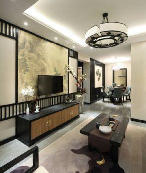 124平新中式品味家中式客厅装修图片