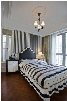 178平美式清新装修案例美式卧室装修图片
