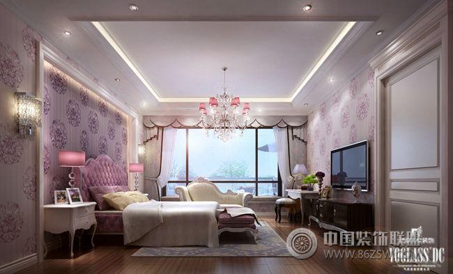 万达御湖世家户型软装配饰设计卧室装修图片