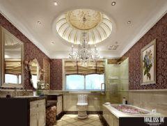 万达御湖世家户型软装配饰设计简约卫生间装修图片