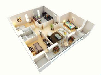 三居装修效果图