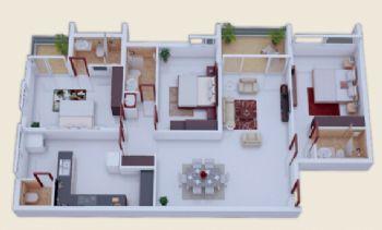 三居装修效果图简约客厅装修图片