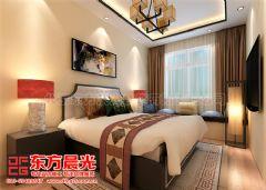 新中式别墅装修设计案例雅韵浓中式卧室装修图片