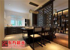 新中式别墅装修设计案例雅韵浓中式餐厅装修图片