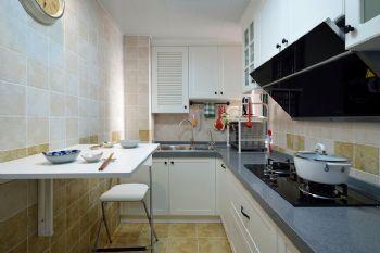 112平美式清新小屋美式厨房装修图片