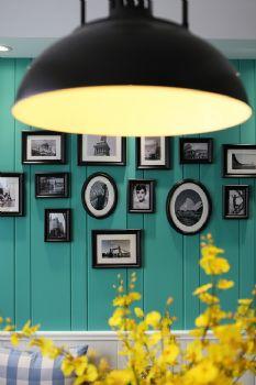 112平美式清新小屋美式客厅装修图片