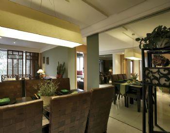 114平东南亚风格装修案例东南亚餐厅装修图片