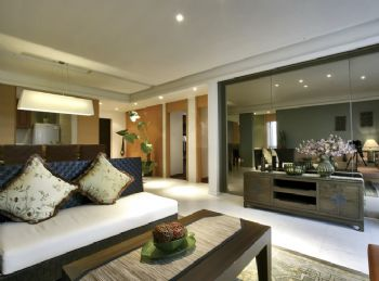 114平东南亚风格装修案例东南亚客厅装修图片