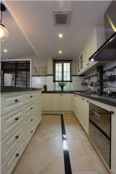 108平现代美式素雅居现代厨房装修图片