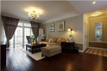108平现代美式素雅居现代客厅装修图片