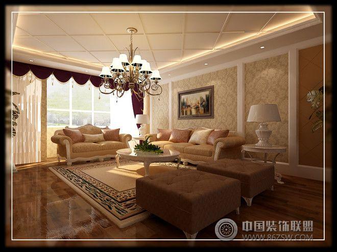 230平简欧大气别墅简约客厅装修图片