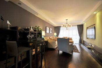 113平中式美式宜居中式客厅装修图片