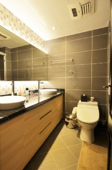 113平中式美式宜居中式卫生间装修图片