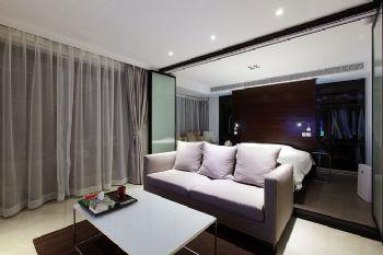 84平现代风格装修案例现代客厅装修图片