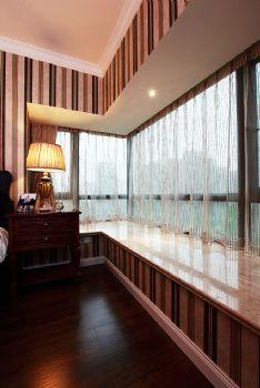 93平欧式美式混搭公寓混搭阳台装修图片