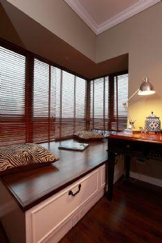 93平欧式美式混搭公寓混搭书房装修图片