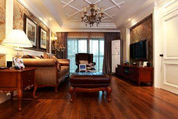 93平欧式美式混搭公寓混搭客厅装修图片