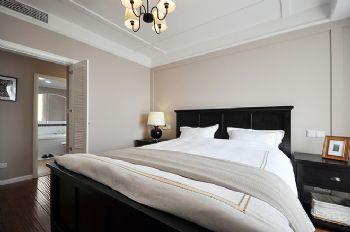96平简约中式环保公寓简约卧室装修图片
