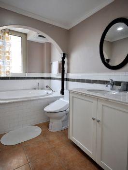 96平简约中式环保公寓简约卫生间装修图片