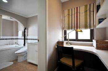 96平简约中式环保公寓简约书房装修图片