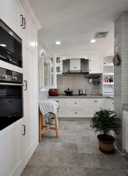 96平简约中式环保公寓简约厨房装修图片