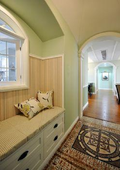 96平简约中式环保公寓简约过道装修图片