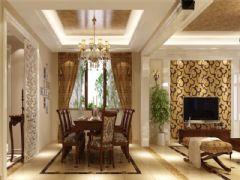 成都尚层装饰别墅装修欧式风格案例效果图欣赏(六)欧式餐厅装修图片