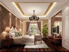 成都尚层装饰别墅装修欧式风格案例效果图欣赏(六)欧式卧室装修图片