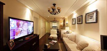 94平简欧美居的温馨欧式客厅装修图片