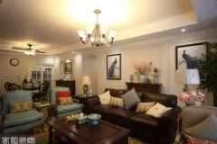 成都家和装饰装修案例-华侨城天鹅堡美式客厅装修图片