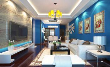 软装搭配效果图现代客厅装修图片