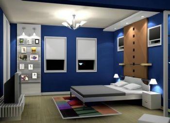 软装搭配效果图现代卧室装修图片
