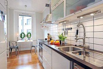 60平小户型装修案例现代厨房装修图片