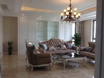 156平欧式奢华公寓欧式客厅装修图片