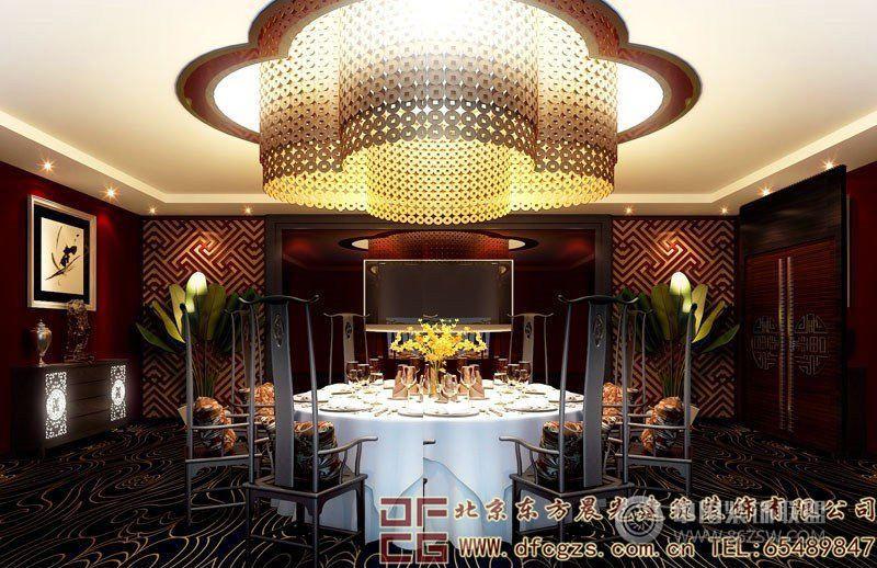 奢華濃郁的中式酒店設計效果圖酒店裝修圖片