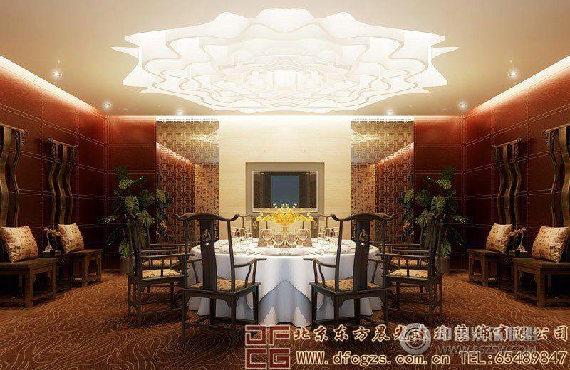 奢華濃郁的中式酒店設計效果圖-酒店裝修圖片